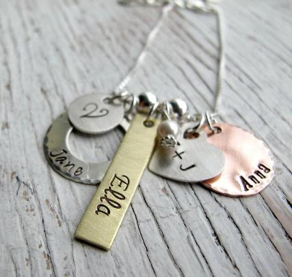 Personalized Family Mixed Metals, 5 charms