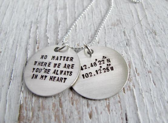 Latitude Longitude Necklace