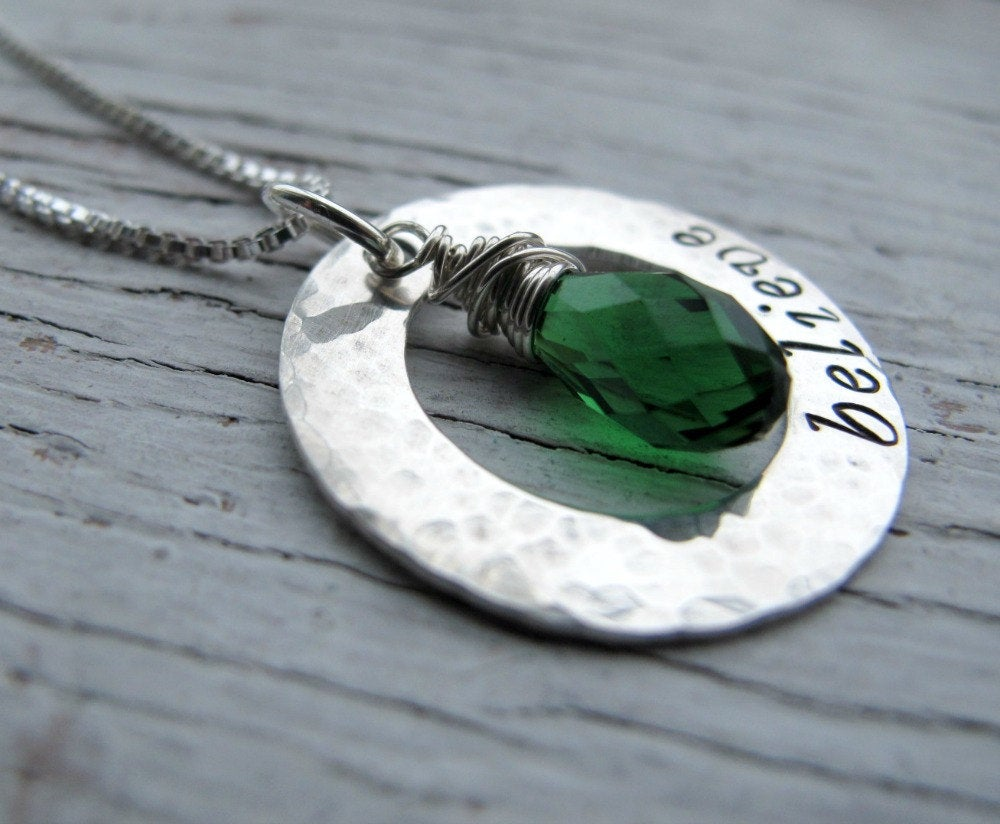 Believe Necklace with Crystal Birthstone