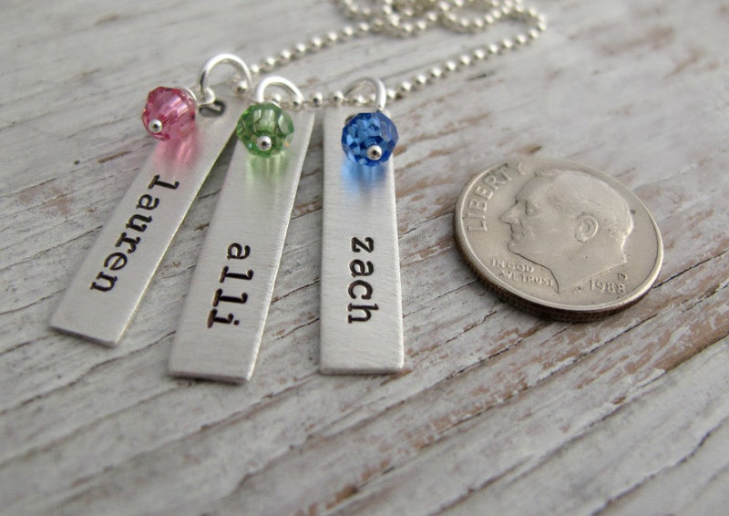 Mother's Necklace, Kids Names Tags