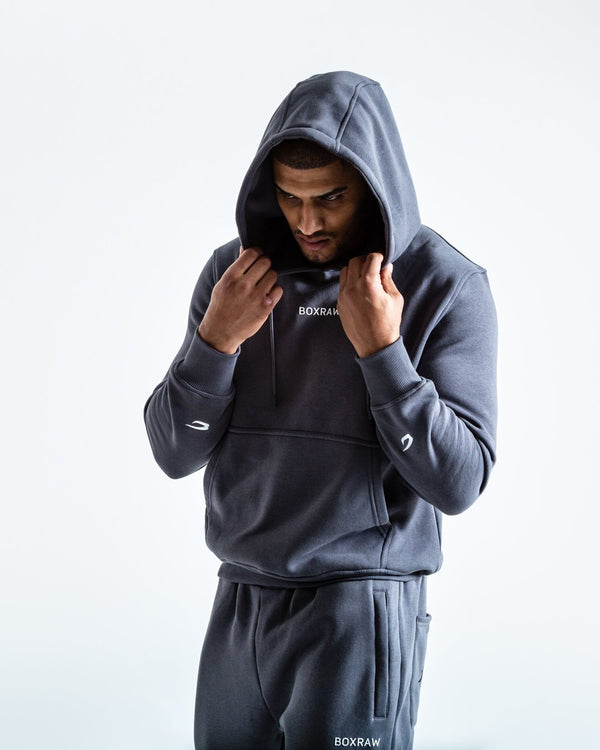 BOXRAW_Johnson Hoodie - Charcoal