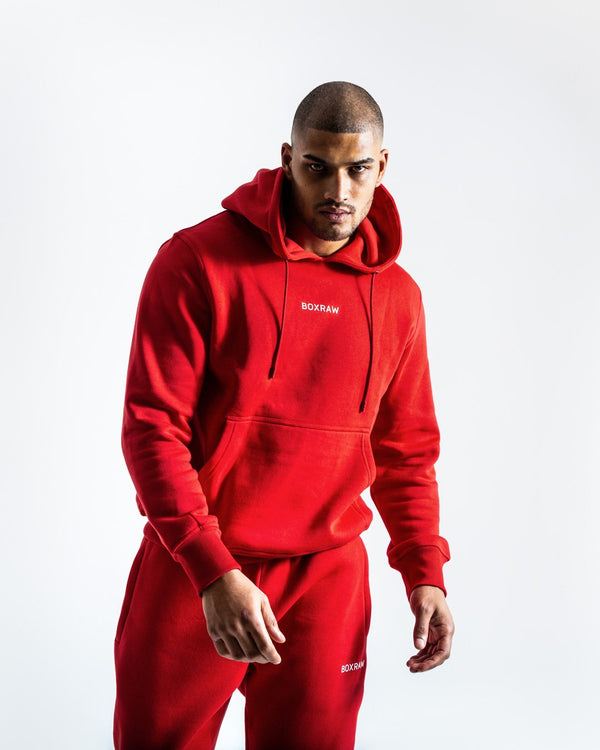 BOXRAW_Johnson Hoodie - Red