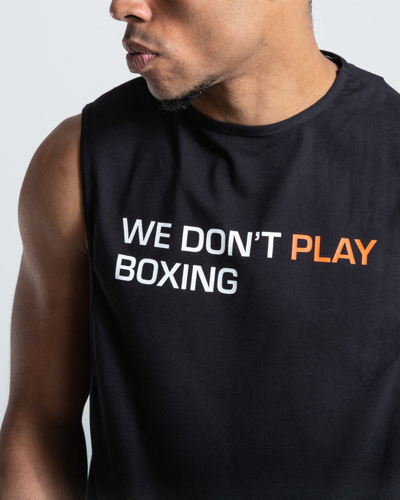 BOXRAW Майка We Don't Play Boxing - Чорна
