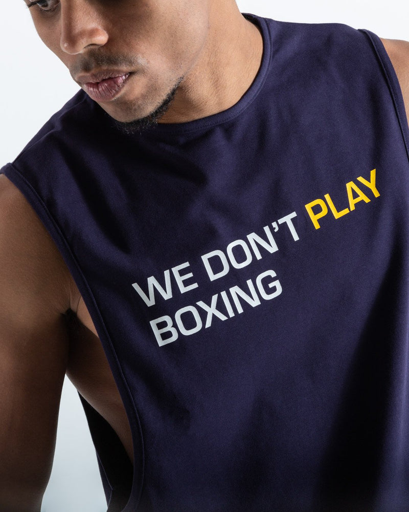 BOXRAW Майка We Don't Play Boxing - Темно-синя