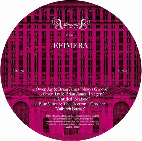 Owen Jay & Brian James / Untitled / Blue Vulva & The Electronic Crooner - Efimera