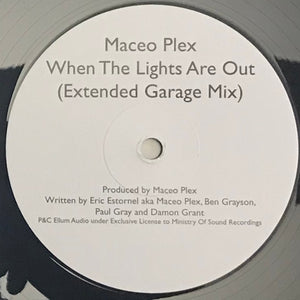Maceo Plex - When The Lights Are Out (Extended Garage Mix) - Bitwax