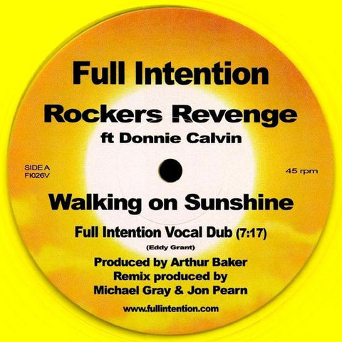 Rockers Revenge Featuring Donnie Calvin ‎– Walking On Sunshine [FI026V]