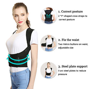 The function of the back posture correction belt