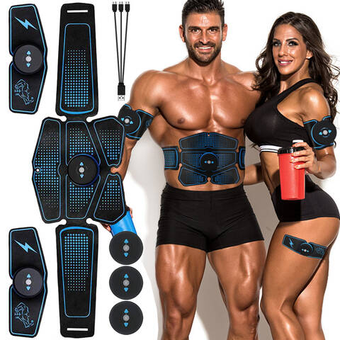 Rechargeable 6 Packs Abdominal Muscle Stimulator