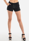 Mid Rise Lace-Up Shorts
