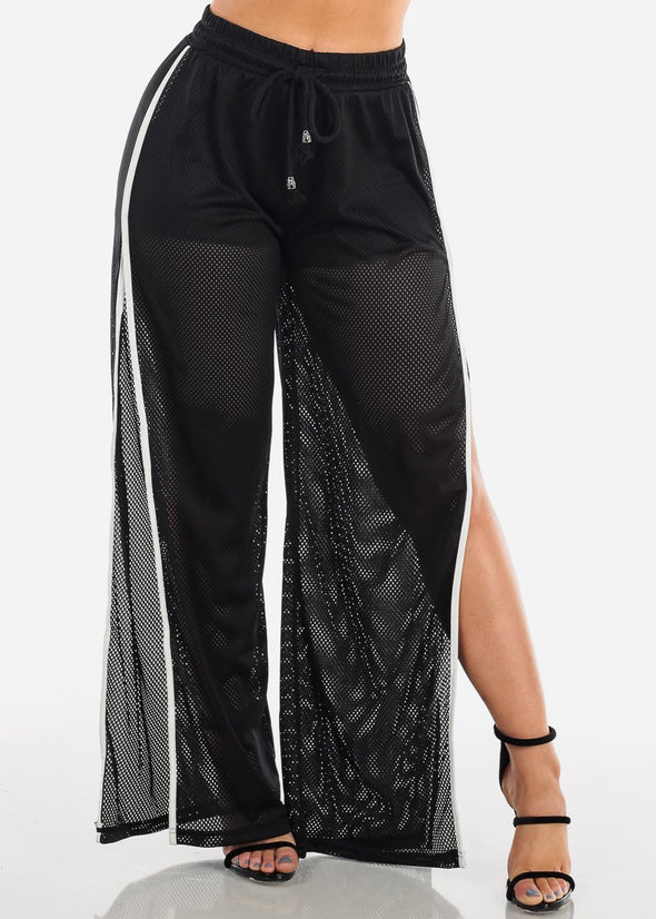 Mesh Pants w/ Side Slits