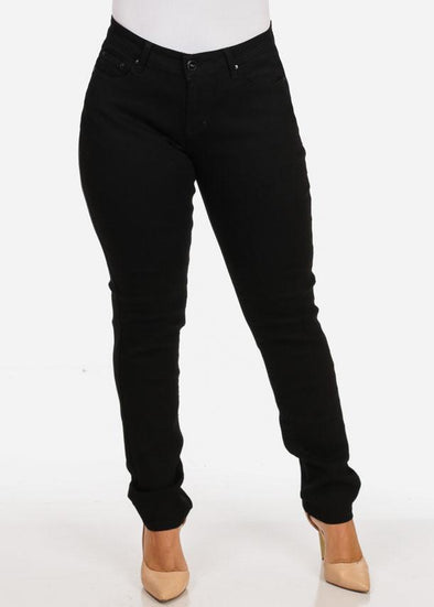 Plus Size Black Skinny Jeans