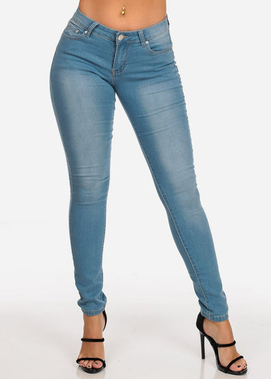 Ligth Blue Low Rise Skinny Jeans
