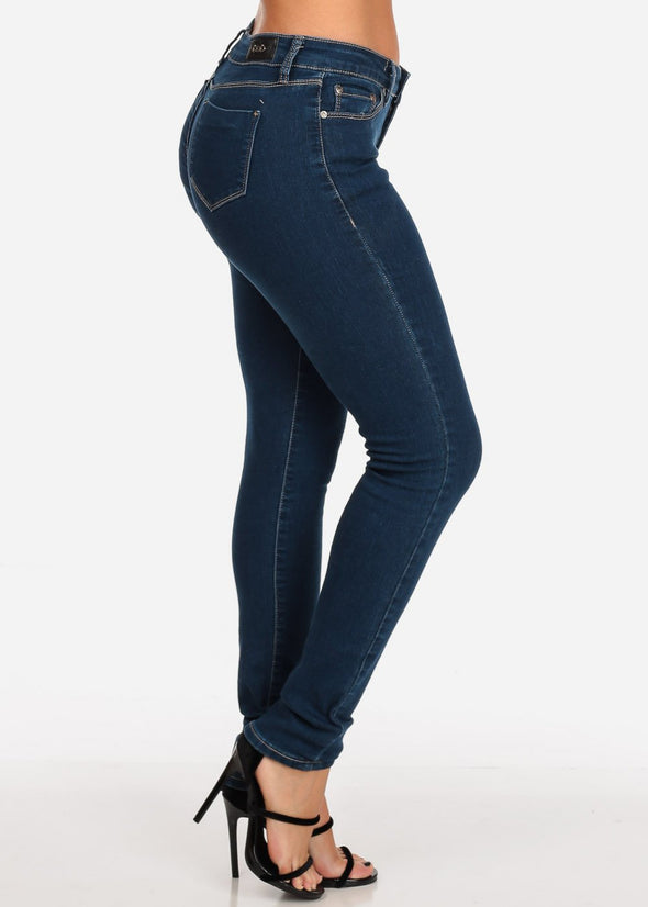 Dark Wash Low Rise Skinny Jeans