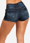 Nine Planet Dark Wash Denim Shorts