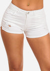 Nine Planet White Ripped Denim Shorts