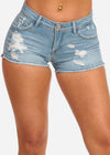Nine Planet Light Blue Denim Shorts