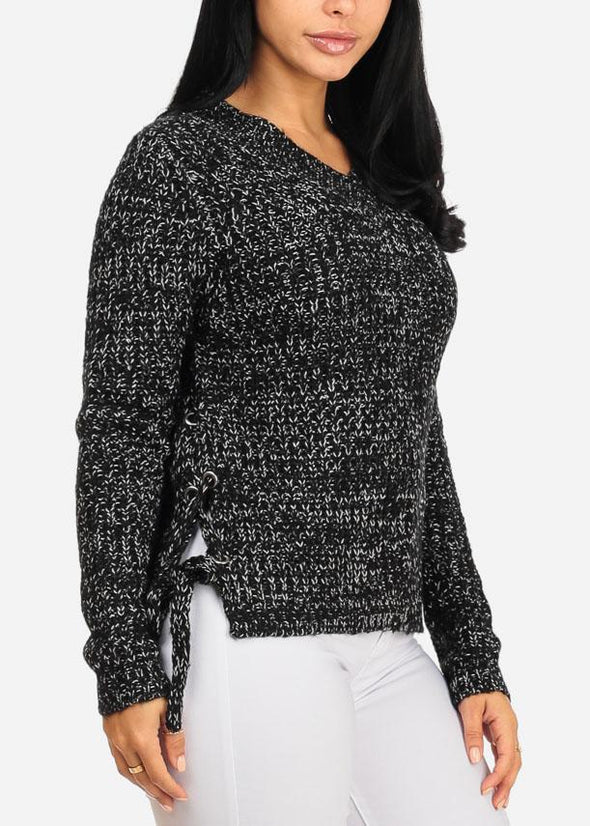 Lace-Up Sides Sweater