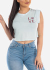 """LOVE"" Graphic Crop Top"