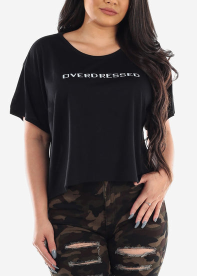 """Overdressed"" Graphic Oversized Tee"