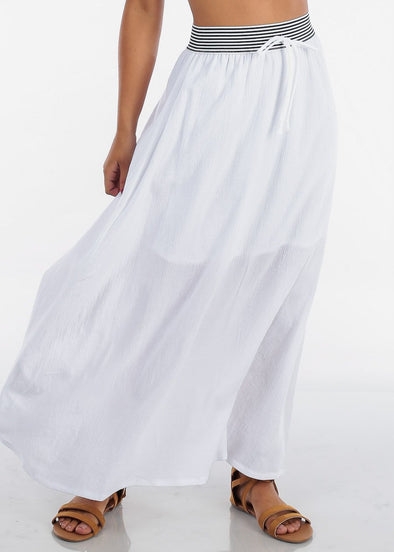 Cotton A-Line Maxi Skirt
