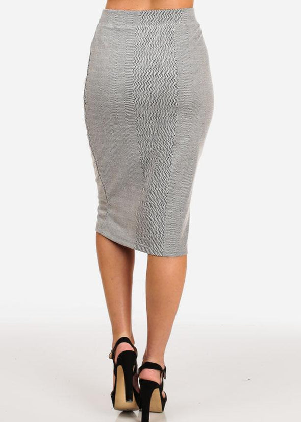 Thin Knit Midi Skirt