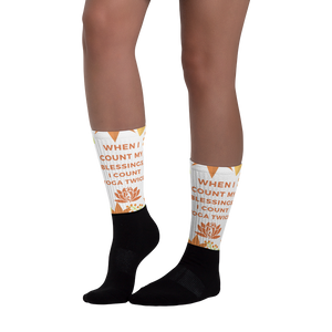 """When I Count My Blessings, I Count Yoga Twice"" Socks"