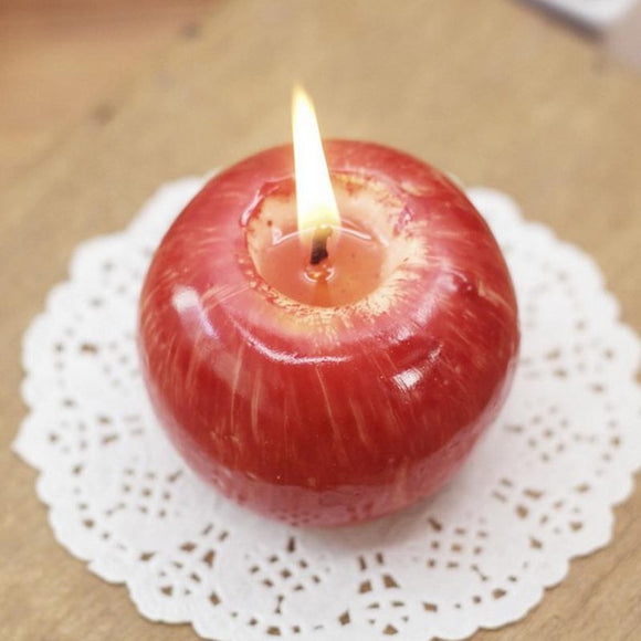 Red Apple Shape Fruit Scented Candle
