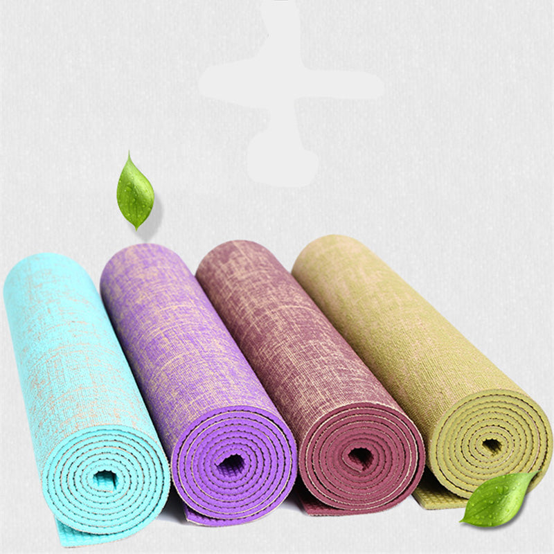 Eco-friendly Reversible Hybrid Linen Yoga Mat
