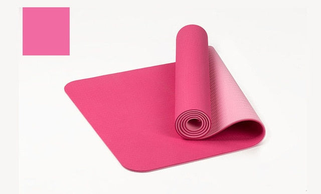Double Color Non-slip Yoga Mat With Bag