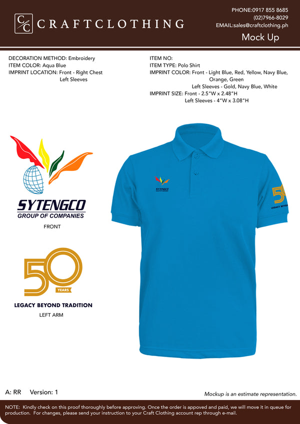 Sytengco Plain Poloshirt (Winner with Embroidery: Right Chest, Left Sleeve)