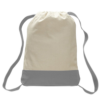 Two-tone Canvas Drawstring Bag