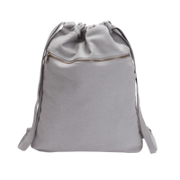 Drawstring Bag with Front Pocket