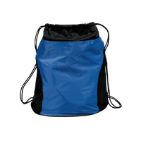 Two-tone Nylon Drawstring Bag