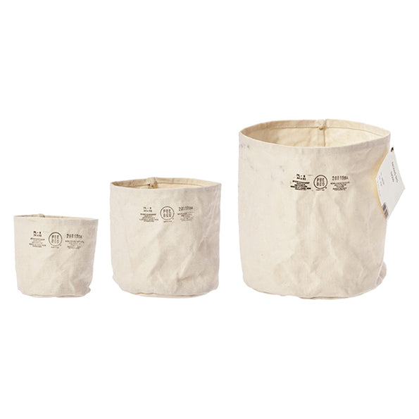 Canvas Pot Cover Set of 3