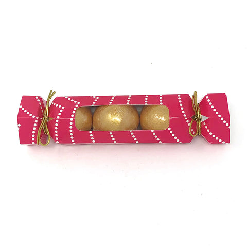 Mini Gold Bath Bomb Trio Set (Cracker Packaging) Case Pack 4 - $3/ea.