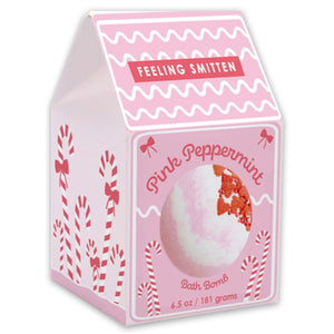 Pink Peppermint Bath Bomb - case pack 6 @ $4.50 ea