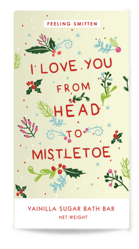 Love You to Mistletoe Bath Bar - case pack 6 @ $5.00 ea
