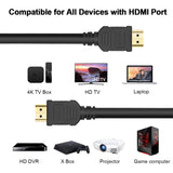High-Speed HDMI Cables, CENTROPOWER HDMI Cord with Ethernet Audio Return(ARC) Compatible UHD TV, Blu-Ray, Xbox, PS4/3, PC, Apple TV 1 Pack (100FT)