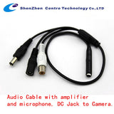 2 Pack of CCTV Security Microphone Audio Outdoor MIC Cable For DVR Security Camera (CT-MIC002)