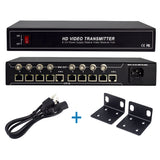 Kit of  8 Channel Passive Balun, DC12V 10A 120W , Power Video Receiver Hub for CCTV Cameras, Monitors, DVR, Switchers, IP Encoders(CT-HDVB8-VP12)