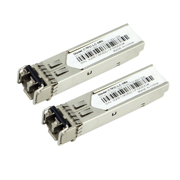 1.25Gbps SFP Optical Transceiver, 850nm/550M, 1000M Base Multi-mode(CTPD-LC-MM)