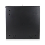 Wall or Floor Mount Enclosure Heavy Duty 16 Gauge Steel NVR & DVR Security Lockbox with AC Fan 15 x 15 x 5 Inches