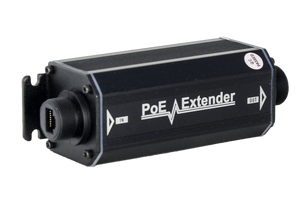 Waterproof PoE outdoor Aluminum Case with Gigabyte PoE extender, upto 1500ft