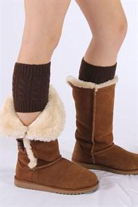 "Women's Cable Knit Boot Cuffs Measurements: 6"" long and 4.5"" wide They stretch enough to fit up to an 18"" calf."