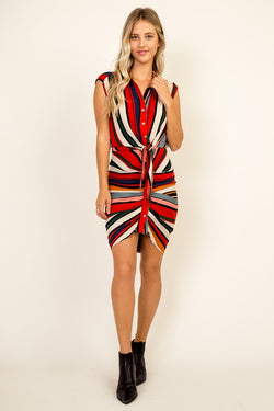 Multi Striped Dress - Chica Boutique NY