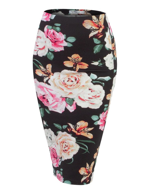 Flower Power Pencil Skirt - Chica Boutique NY