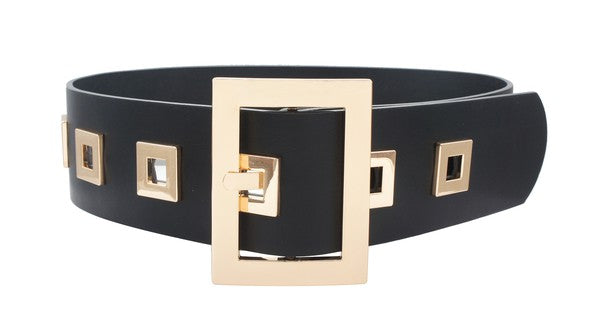 Thick Square Buckle Belt