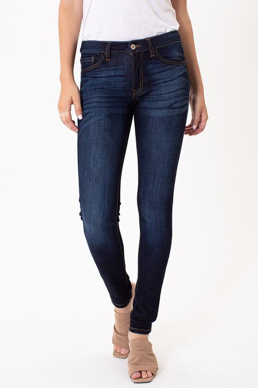 Mid-Rise Basic Skinny Jeans