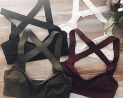 All About Layers Banded Bra Olive - Chica Boutique NY